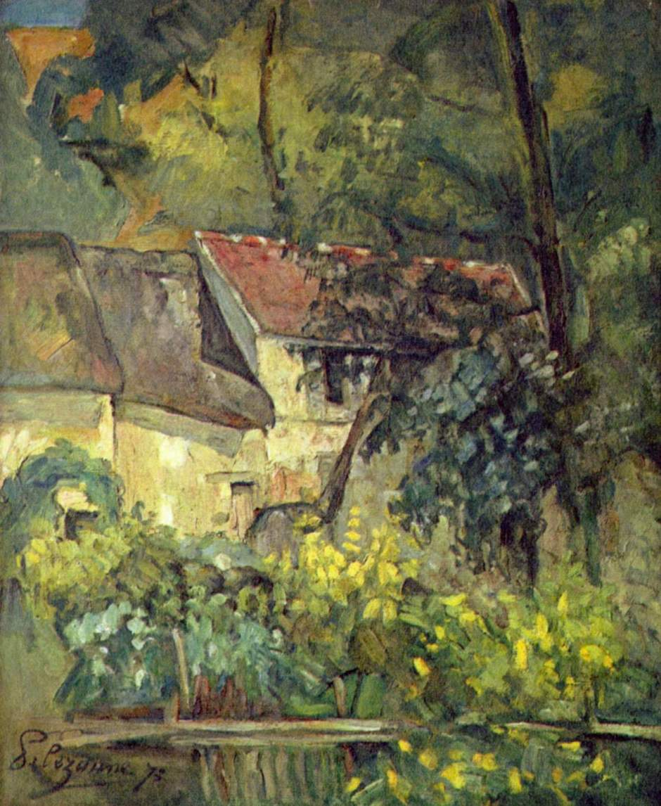Paul Cézanne, La maison du Père Lacroix, Auvers-sur-Oise (1873), Rewald no. 201, oil on canvas, 61.5 x 51 cm. National Gallery of Art, Washington DC, Chester Dale Collection (WikiArt).