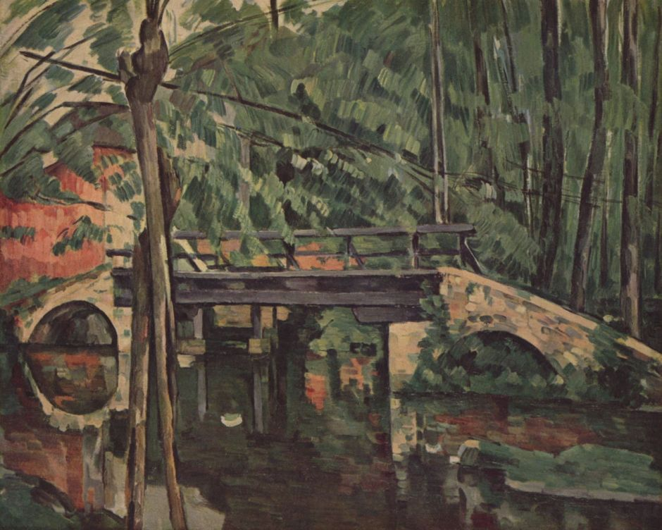 Paul Cézanne, Le pont de Maincy (1879-80), Rewald no. 436, oil on canvas, 58.5 x 72.5 cm. Musée d'Orsay, Paris (WikiArt).