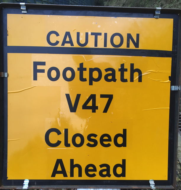A helpful and informative sign, if you know which path is V47.