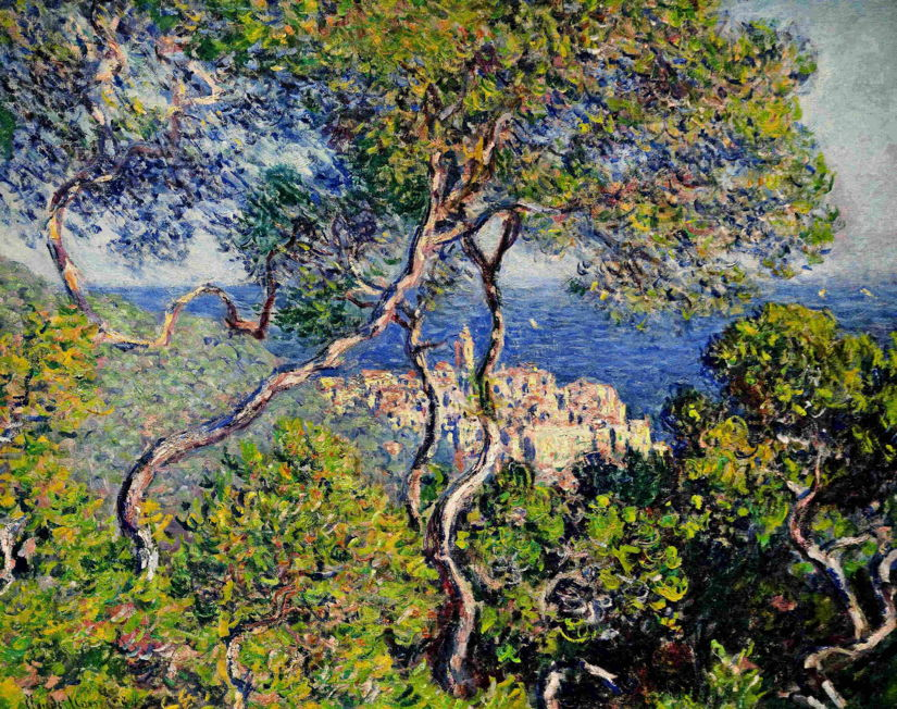 "Claude Monet, ""Bordighera"", 1884, oil on canvas, 65 x 80.8 cm, The Art Institute of Chicago (WikiArt). Yellows used here are based on cadmium pigments."