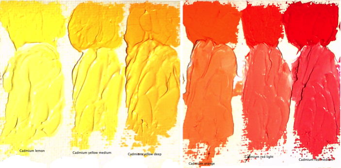 Williamsburg Oil Paints, Cadmium colours. Aren't they gorgeous?