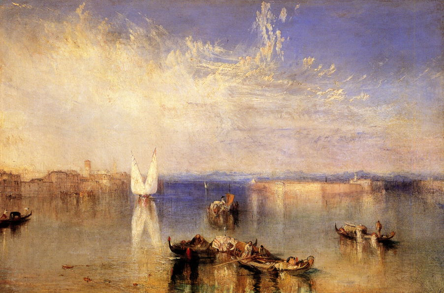 Joseph Mallord William Turner, Campo Santo, Venice (1842), oil on canvas, 62.2 x 92.7 cm, Toldeo Museum of Art, Toledo. WikiArt.