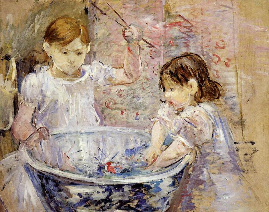 Berthe Morisot, Children with a Bowl (1886), oil on canvas, 73 x 92 cm, Musée Marmottan Monet, Paris. WikiArt.