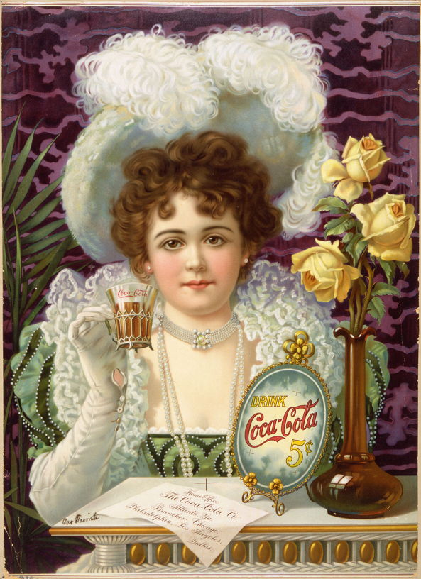 The Coca-Cola Company, c 1900, via Wikimedia Commons.