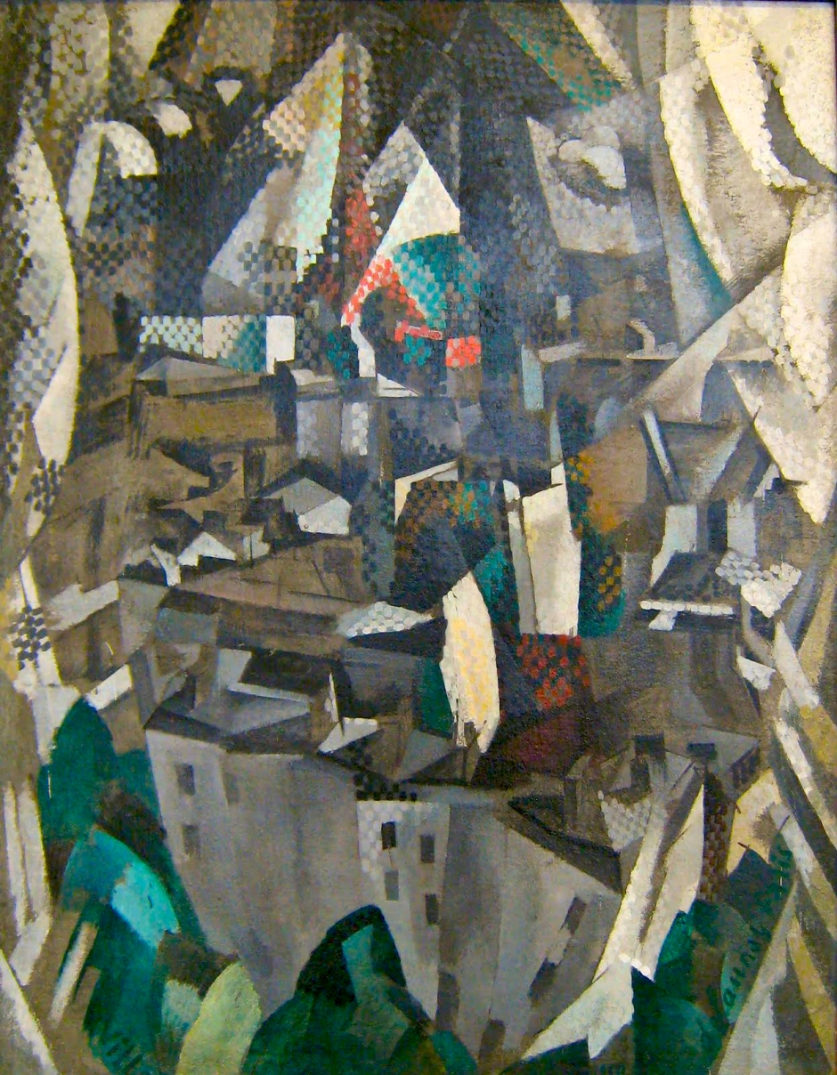 Robert Delaunay, La Ville no. 2 (1910). Oil on canvas, 146 x 114 cm, Musée National d'Art Moderne, Centre Georges Pompidou, Paris. (Wikimedia Commons.)