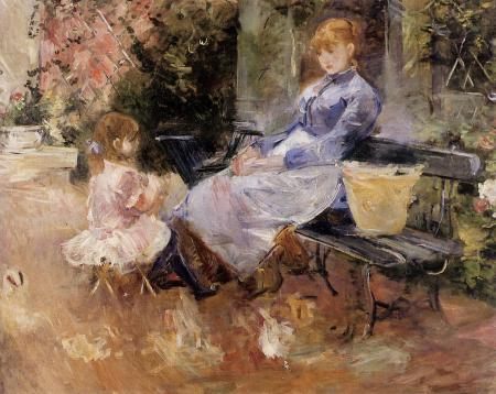 Berthe Morisot, The Fable (1883), oil on canvas, 65 x 81 cm, Private collection. WikiArt.
