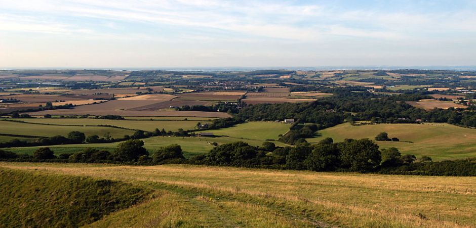 Centre of the Isle of Wight, before bonfires, solar farms, and sundry improvements. © 2015 EHN & DIJ Oakley.
