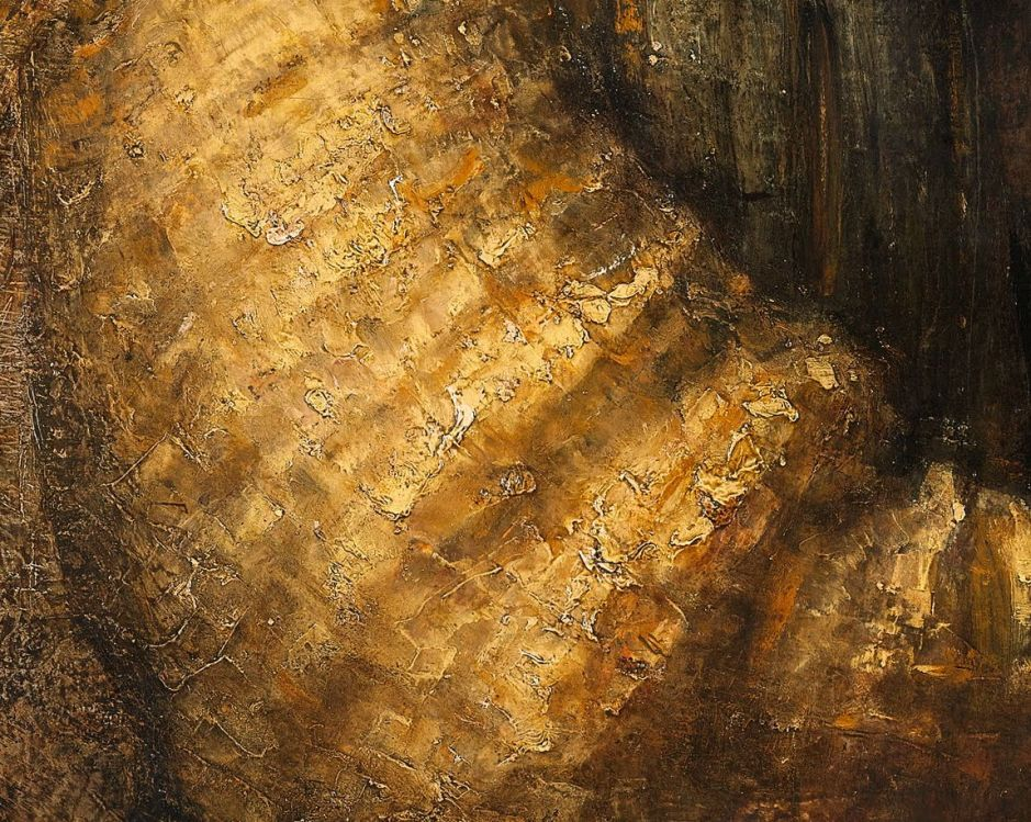Rembrandt Harmenszoon van Rijn, The Jewish Bride (detail) (c 1667), oil on canvas, 121.5 x 166.5 cm, Rijksmuseum, Amsterdam. Wikimedia Commons.