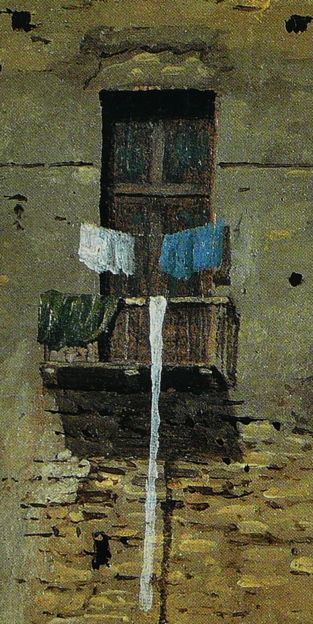 Thomas Jones, A Wall in Naples (detail) (c 1782), oil on paper laid on canvas, 11.4 x 16 cm, National Gallery, London. Wikimedia Commons.