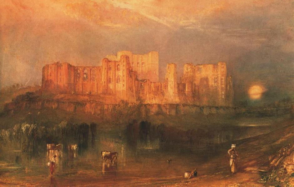 Joseph Mallord William Turner, Kenilworth Castle (c 1830), watercolour, body colour and graphite on paper, 29.2 x 45.4 cm, Fine Arts Museums of San Francisco. WikiArt.