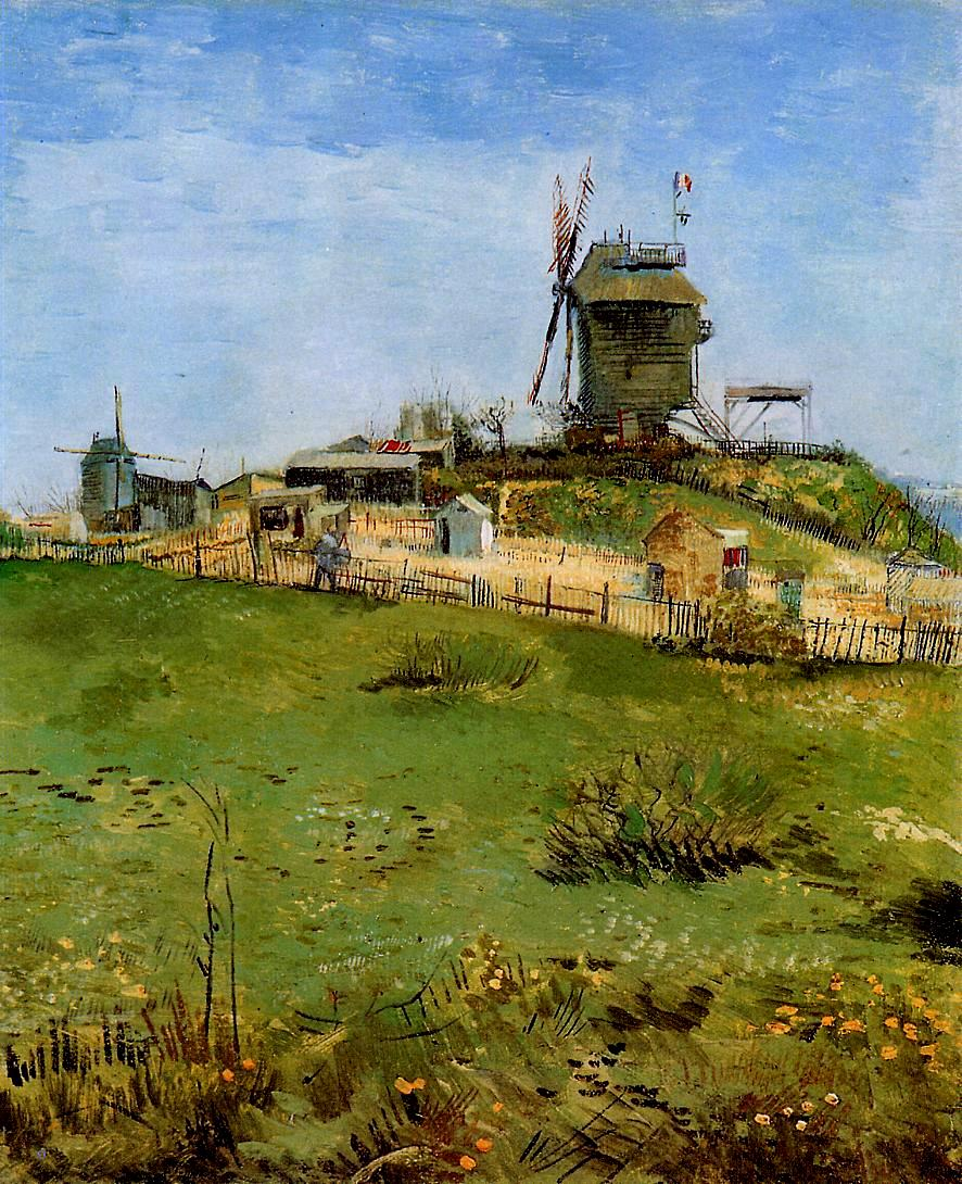Vincent van Gogh, Le Moulin de la Gallette (1887), oil on canvas, 46 x 38 cm, The Carnegie Museum of Art, Pittsburgh. WikiArt.