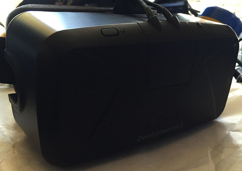 Oculus Rift DK2 goggles seen from outside.