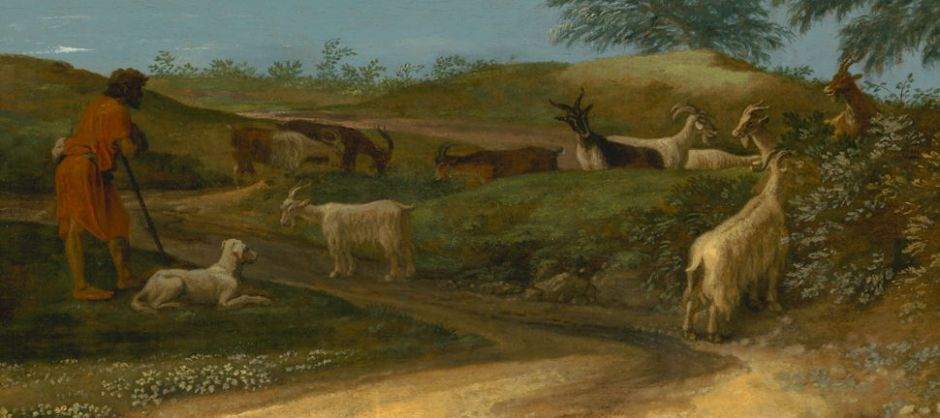 Nicolas Poussin, Landscape with a Calm (detail) (c 1651), oil on canvas, 97 x 131 cm, J. Paul Getty Museum, Los Angeles. Digital image courtesy of the Getty's Open Content Program.