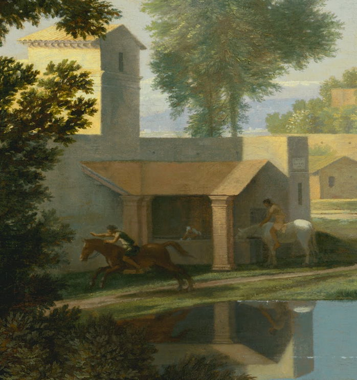 Nicolas Poussin, Landscape with a Calm (detail) (c 1651), oil on canvas, 97 x 131 cm, J. Paul Getty Museum, Los Angeles. Digital image courtesy of the Getty's Open Content Program.
