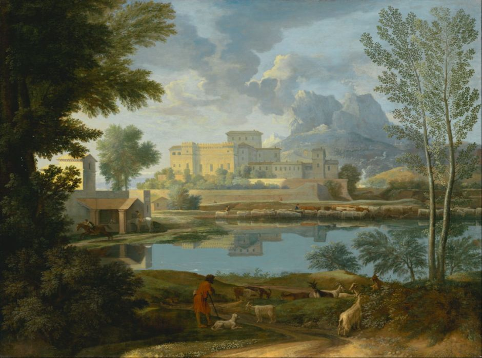 Nicolas Poussin, Landscape with a Calm (c 1651), oil on canvas, 97 x 131 cm, J. Paul Getty Museum, Los Angeles. Digital image courtesy of the Getty's Open Content Program.