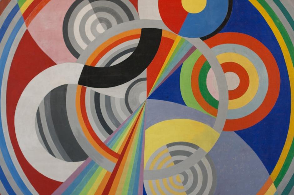 Robert Delaunay, Rythme no 1 (1938), oil on canvas, Musée d'Art Moderne de la ville de Paris. WikiArt.
