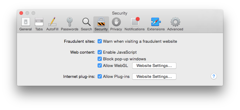 You may be able to lock your browser down more than is shown here. If you can, do so.