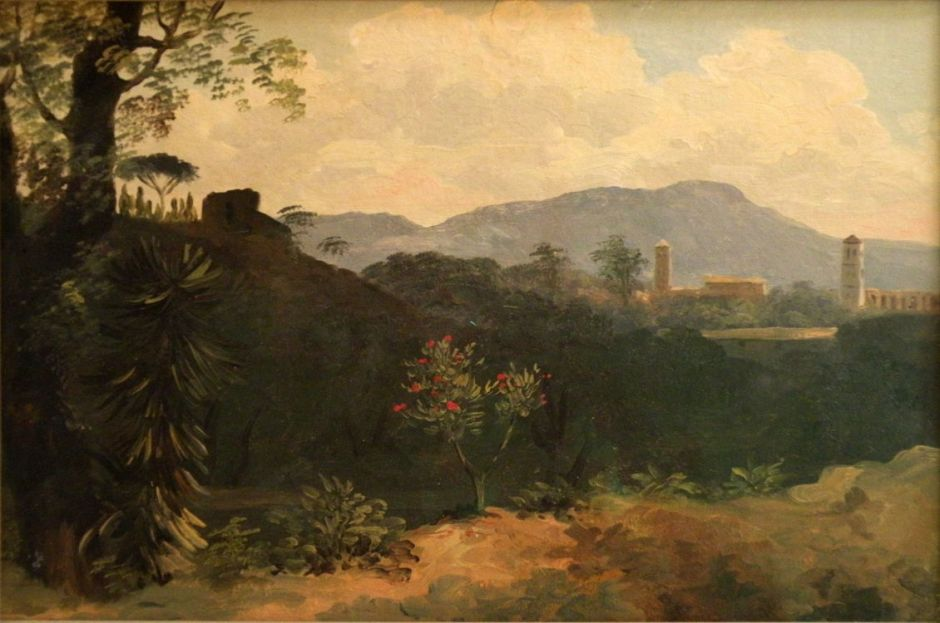 Pierre-Henri de Valenciennes, (Title not known) (c 1783), oil on paper laid on canvas, c 18 x 28 cm, Musée du Louvre, Paris. © 2015 EHN & DIJ Oakley.