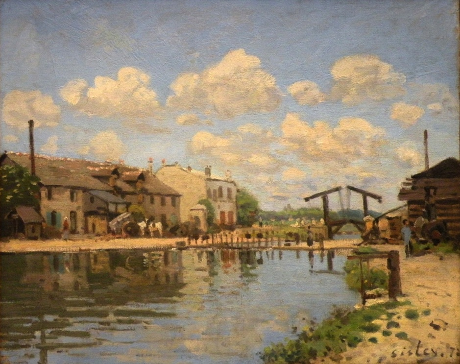 Alfred Sisley, The Canal Saint-Martin, Paris (1872), oil on canvas, 38 x 46 cm, Musée d'Orsay, Paris. EHN & DIJ Oakley.