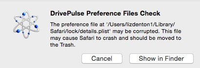 A warning that you should not ignore: trash the offending file and your Mac should work better.