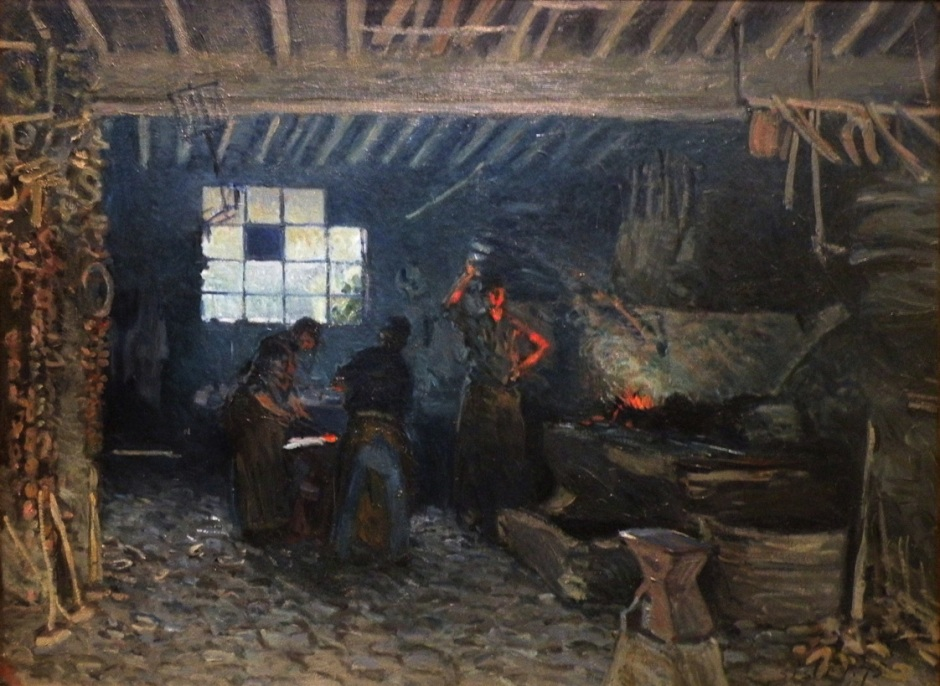 Alfred Sisley, Forge at Marly-le-Roi (1875), oil on canvas, 55 x 73.5 cm, Musée d'Orsay, Paris. EHN & DIJ Oakley.
