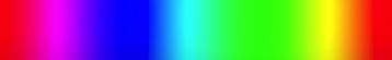 A strip range of hues, also changing lightness but constant chroma.