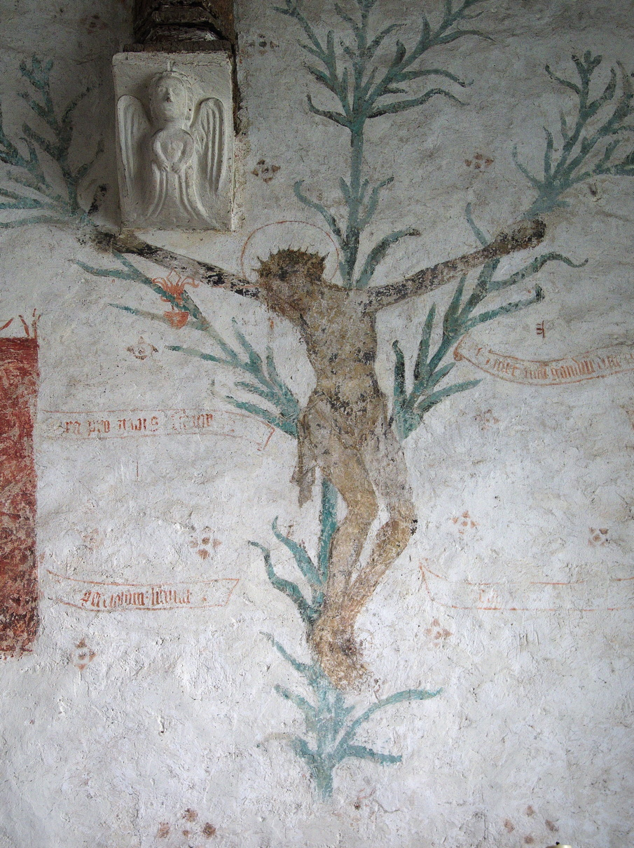 Anonymous, Lily Crucifix (c 1450), ?tempera on plaster, Godshill Village Parish Church, Isle of Wight.