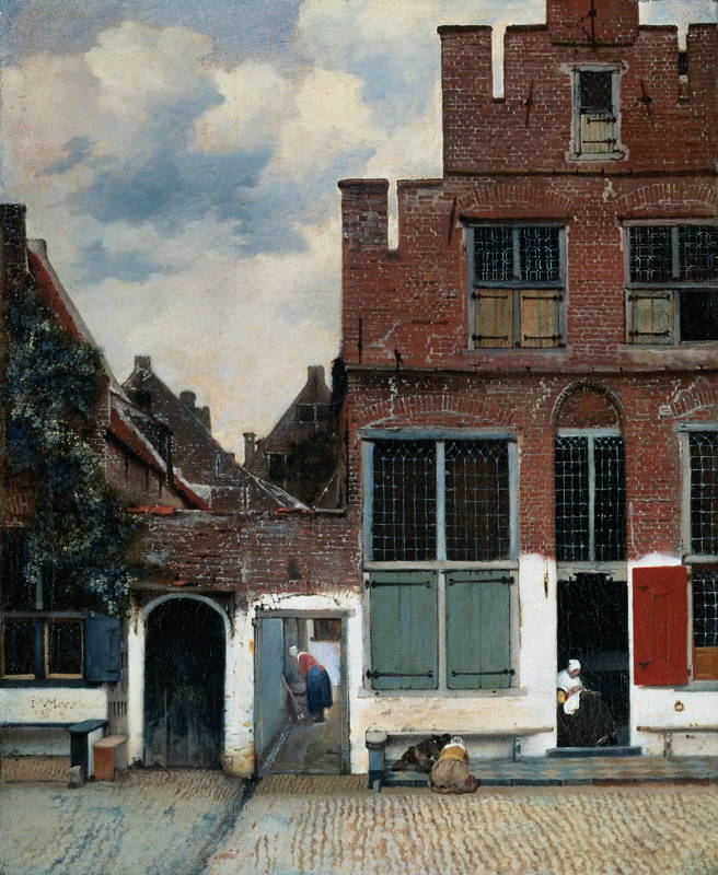 Johannes Vermeer, The Little Street (c 1657-1661), oil on canvas, 54.3 x 44 cm, The Rijksmuseum, Amsterdam. WikiArt.