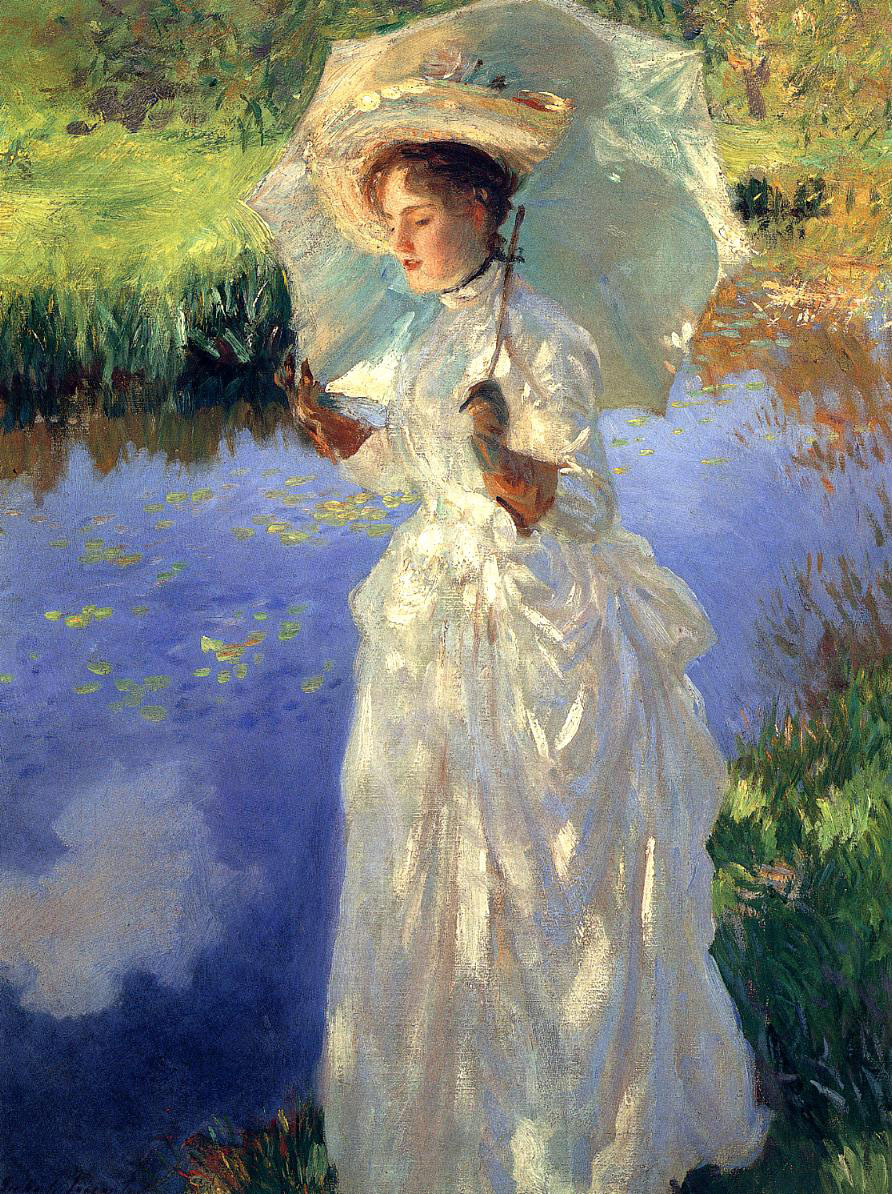 John Singer Sargent, Morning Walk (1888), oil on canvas, 67.3 x 50.2 cm, Private collection. WikiArt.