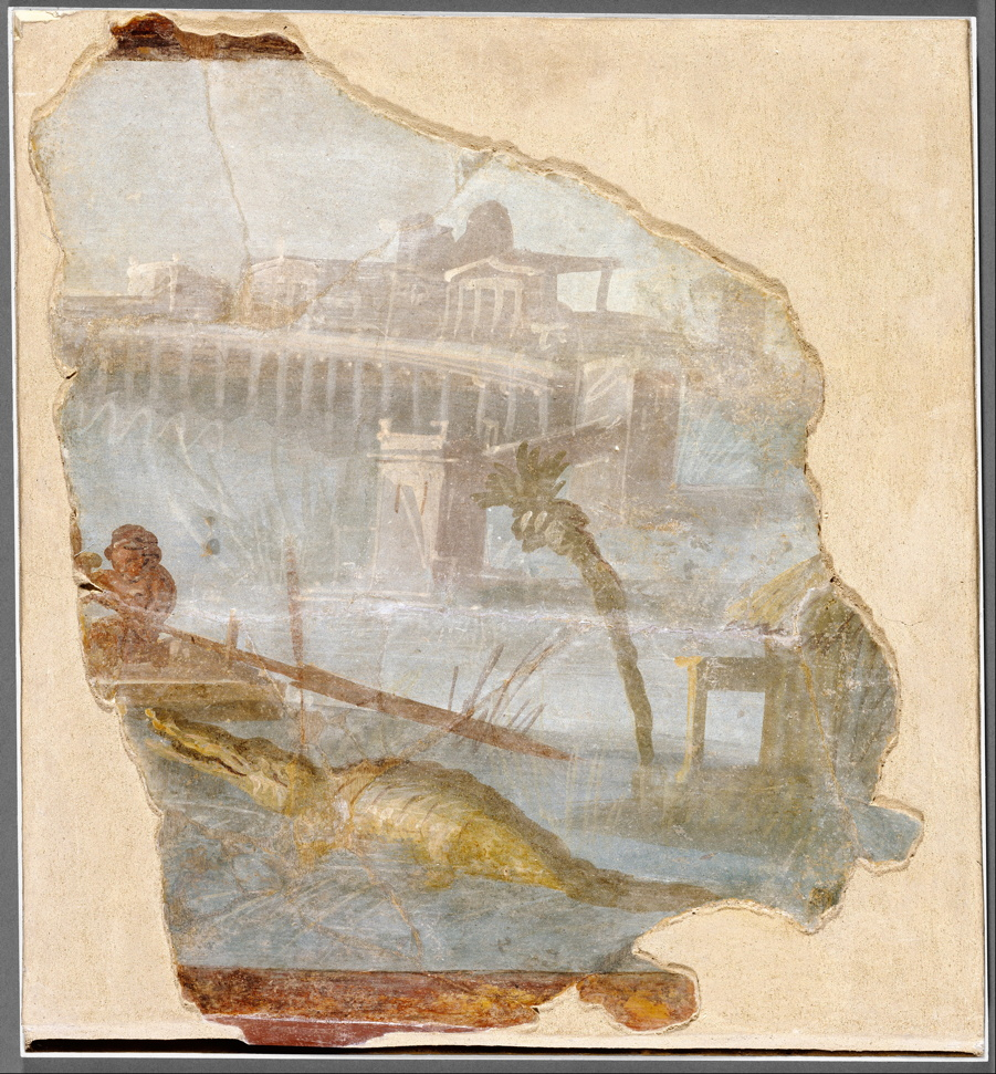 Anonymous, Nilotic Landscape (c 70 CE), fresco, 45.7 x 38 cm, Getty Villa, Los Angeles. Wikimedia Commons.