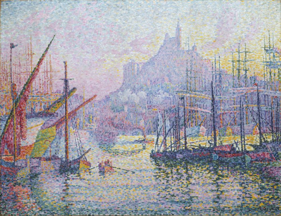 Paul Signac, Notre-Dame-de-la-Garde (La Bonne-Mère), Marseilles (1905-6), oil on canvas, 88.9 x 116.2 cm, Metropolitan Museum of Art, New York. Wikimedia Commons.