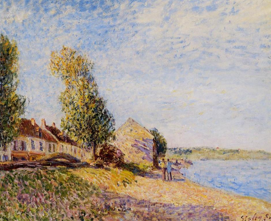Alfred Sisley, Saint Mammès (1885), oil on canvas, 54 x 73 cm, Private collection. WikiArt.