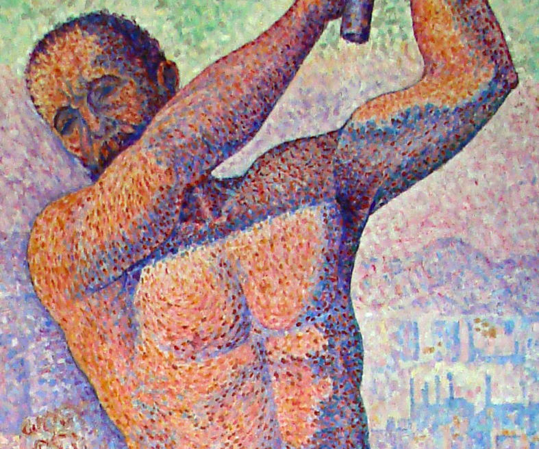 Paul Signac, The Demolisher (detail) (1897-9), oil on canvas, 250 x 152 cm, Musée de Beaux-Arts, Nancy. WikiArt, Wikimedia Commons.