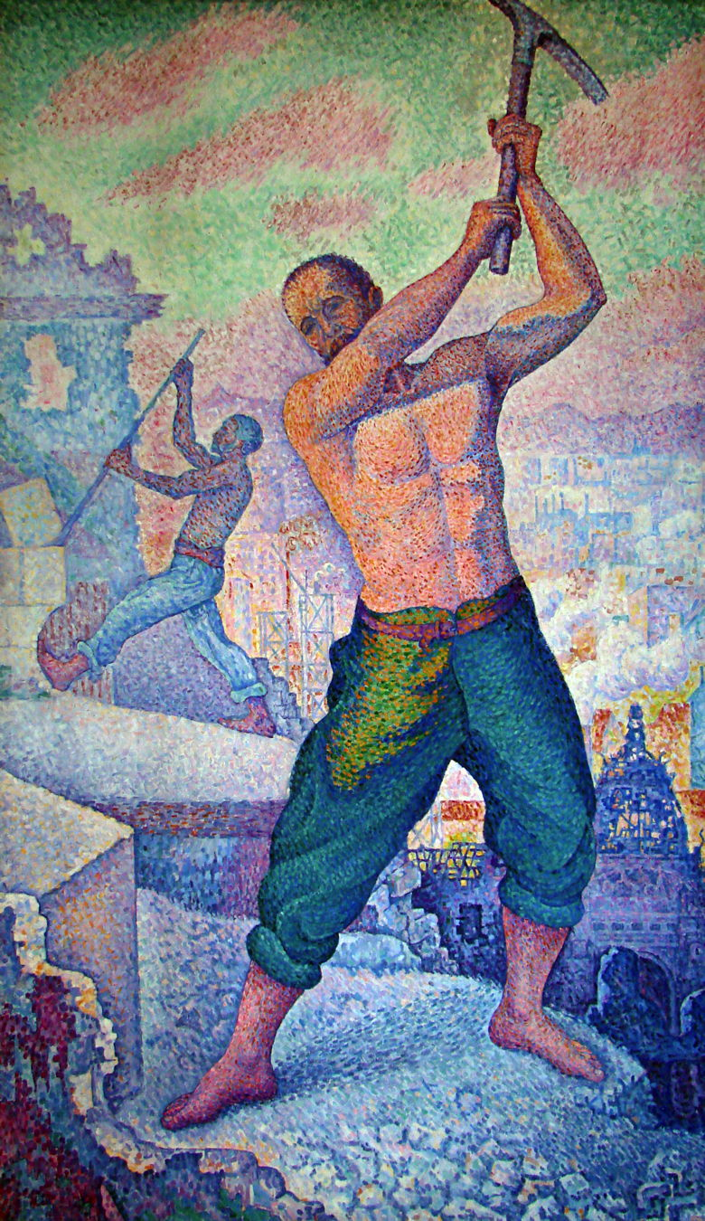 Paul Signac, The Demolisher (1897-9), oil on canvas, 250 x 152 cm, Musée de Beaux-Arts, Nancy. WikiArt, Wikimedia Commons.