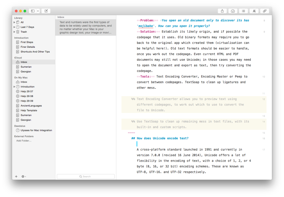 Ulysses is another minimalist editor with Markdown support, available for iOS too.