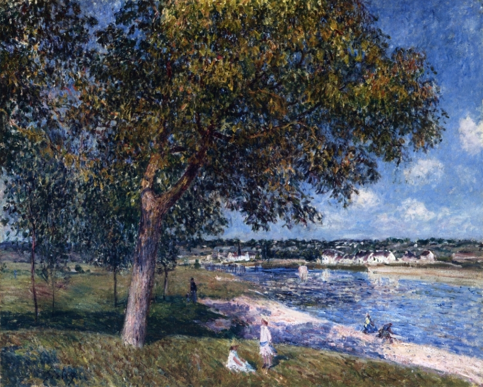 Alfred Sisley (1839–1899), Walnut Tree in a Thomery Field (1880), oil on canvas, 57 x 71 cm, Private collection. WikiArt.