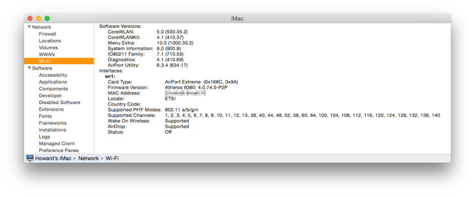 About This Mac's System Report will show you which wireless protocols your Mac supports.