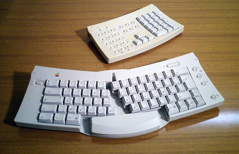 Apple's Adjustable Keyboard: an ergonomic innovation but market failure. http://www.allaboutapple.com via Wikimedia Commons.