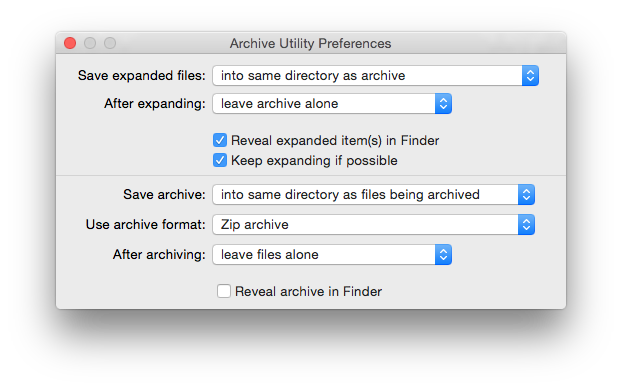 Apple's free Archive Utility only supports Zip and GnuZip (.gz) formats, but is simple to use.