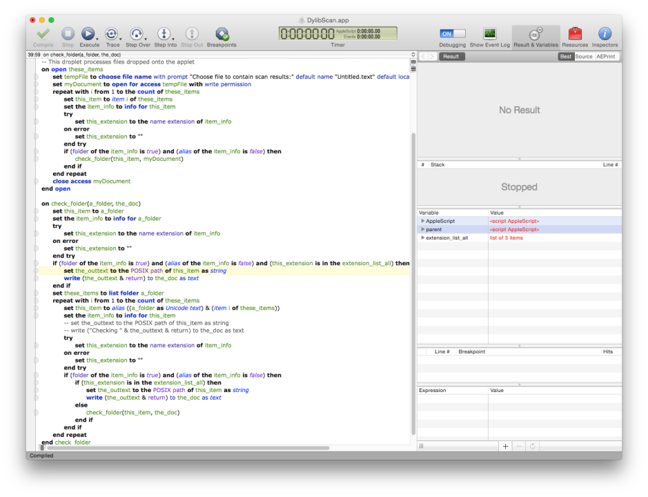 Script Debugger's script development interface is far superior to that of the bundled Script Editor.