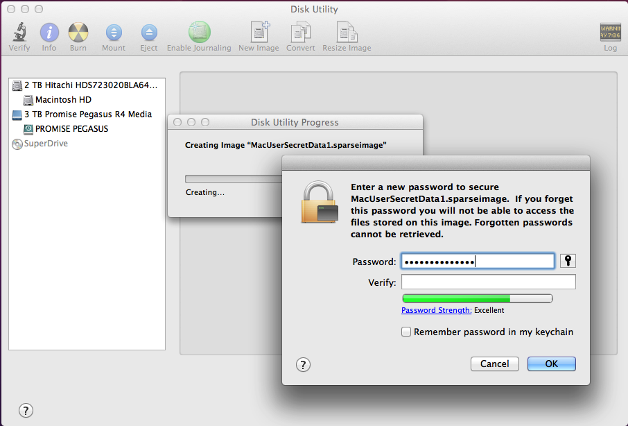 When creating passwords, OS X can advise you how secure they should be.