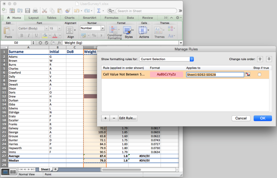 In Excel, select the range of cells and configure their Conditional Formatting.
