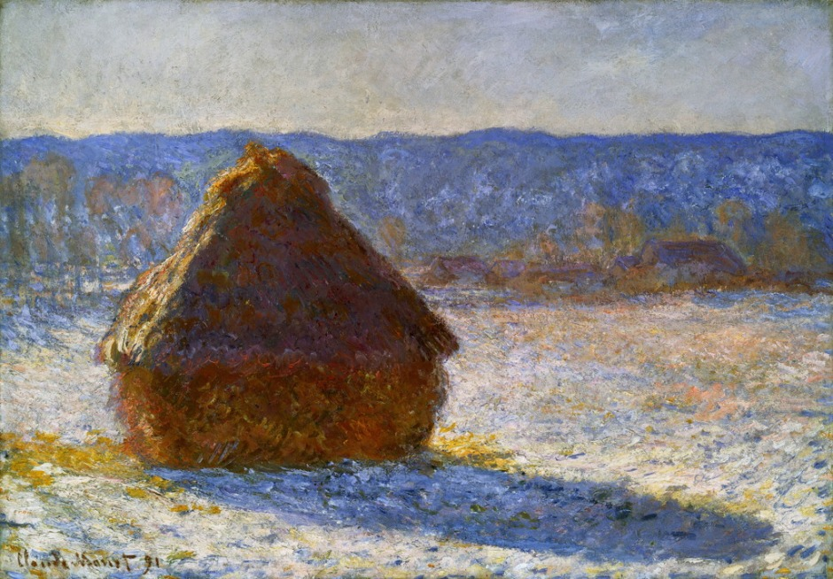 Claude Monet, Grainstack series painting W1280, 1890-91. WikiArt.