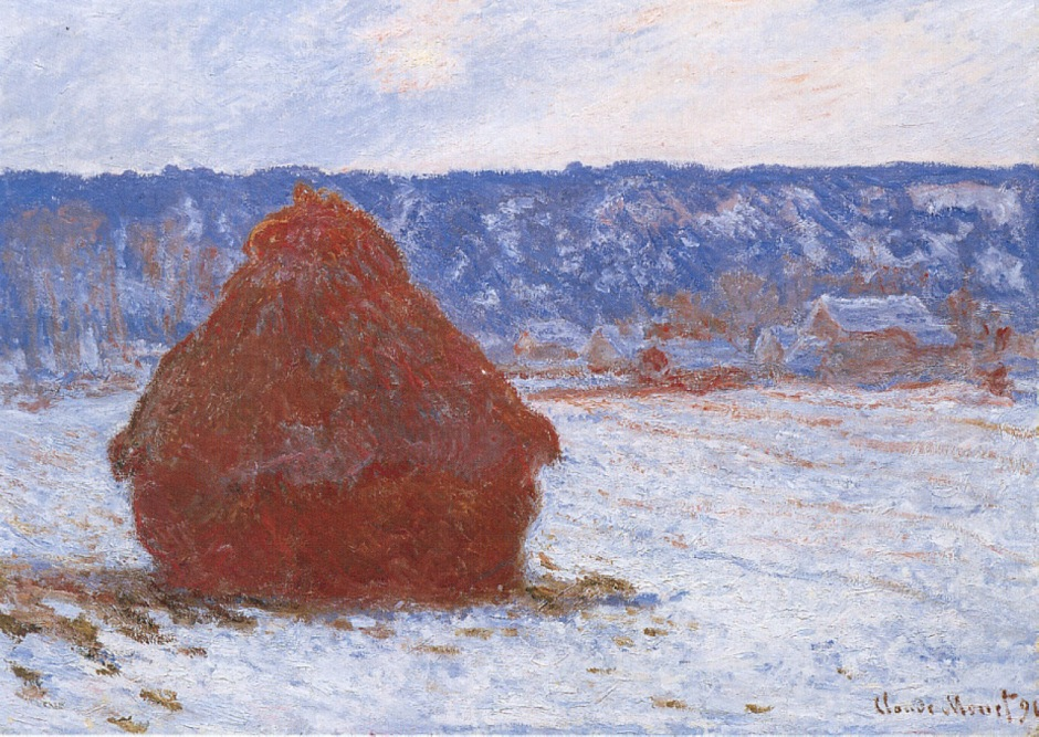 Claude Monet, Grainstack series painting W1281, 1890-91. WikiArt.
