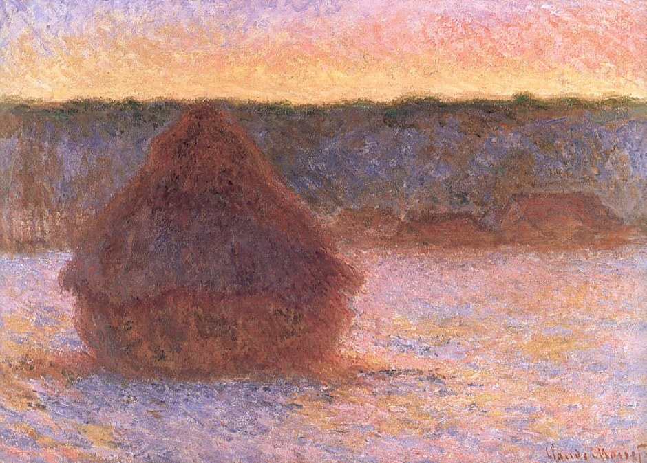 Claude Monet, Grainstack series painting W1282, 1890-91. WikiArt.