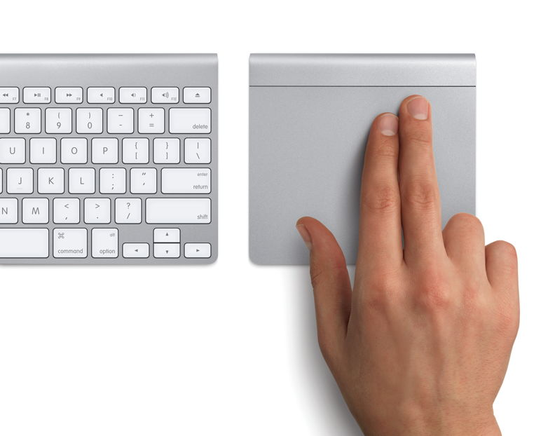 The Apple Magic Trackpad and Wireless Keyboard. Courtesy of, and © Apple.