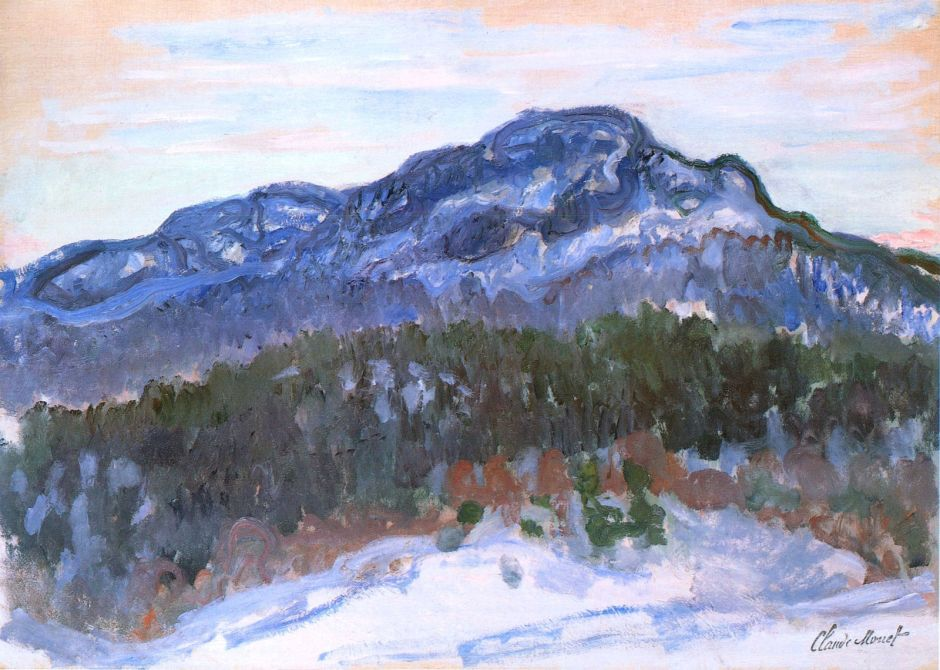 Claude Monet, Mont Kolsaas (1895) W1407, oil on canvas, 65 x 92 cm, Private collection. WikiArt.