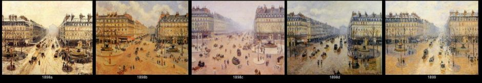 Camille Pissarro, some paintings from the Avenue de l'Opera series, 1898-9.