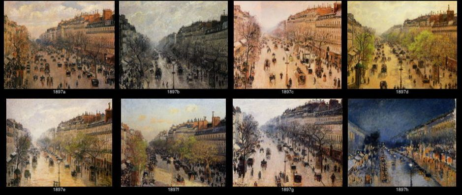 "Camille Pissarro, some of the ""Boulevarde Montmartre"" series of 1897."