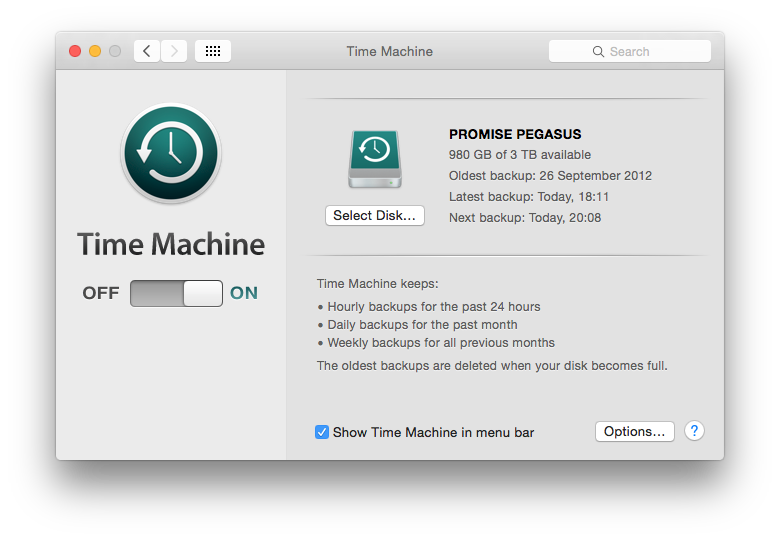Time Machine's controls are simple, and diagnosing problems more tricky.